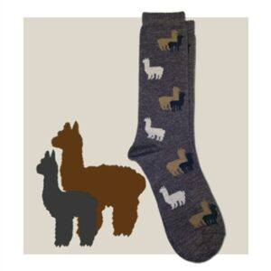 Alpaca graphic sock