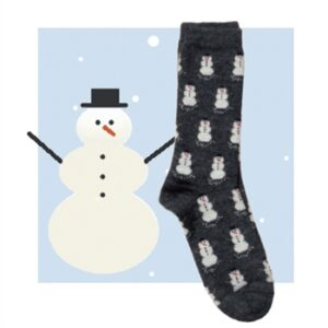 Snowman graphic sock